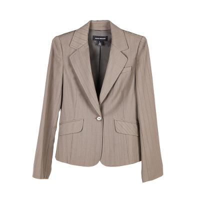 one button classic blazer mocha brown